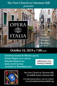 Opera Italia @ First Church in Chestnut Hill | Newton | Massachusetts | United States